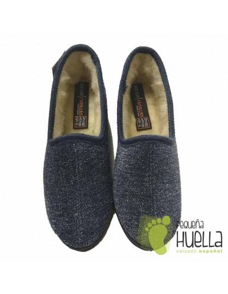 Zapatillas de lana azules para Casa para mujer DOCTOR CUTILLAS