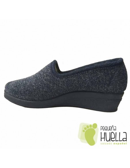 DOCTOR CUTILLAS Zapatillas de lana azules para Casa mujer