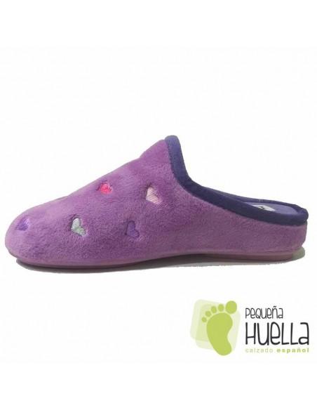 Zapatillas de Casa Corazones Chica D´LIRO