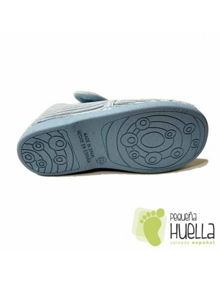 Zapatillas azules casa niño con velcro