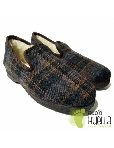 Zapatillas de cuadros para señor Cruan