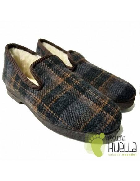 Zapatillas de lana para hombre  Cruan