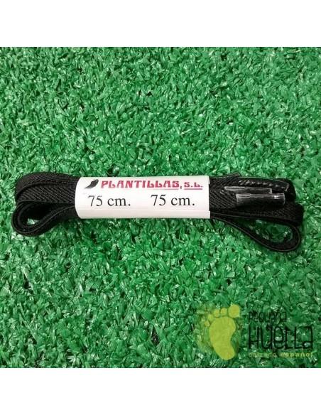 cordones negros elásticos 75 cm