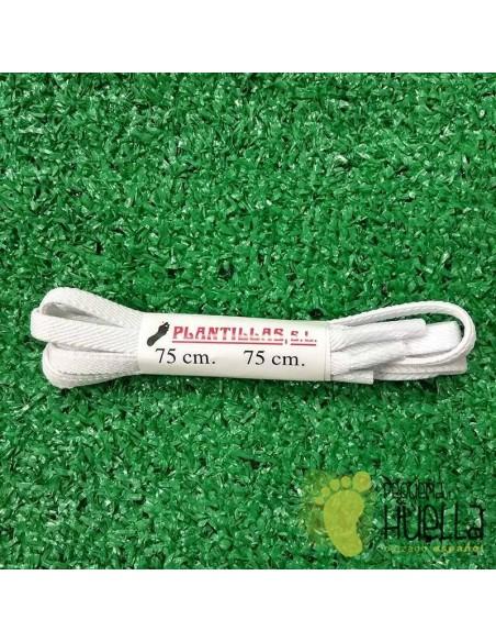 cordones blancos elásticos 75 cm