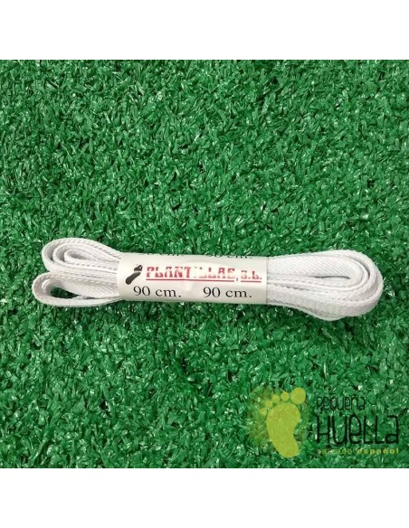 cordones  blancos elásticos 90 cm