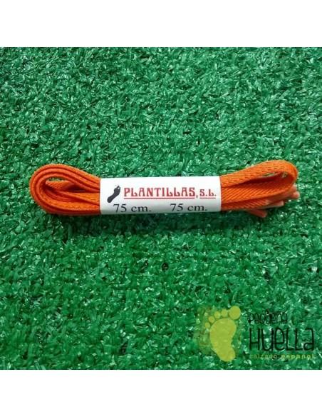 cordones naranjas elásticos 75 cm