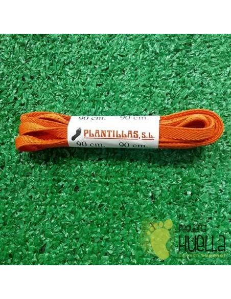 cordones naranjas elásticos 90 cm