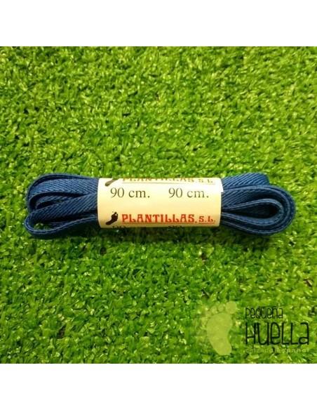 cordones azul francia elásticos 90 cm