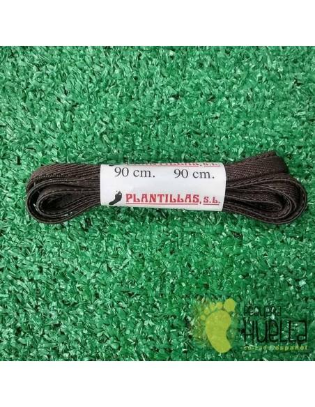 cordones marrones elásticos 90 cm