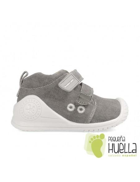 Zapatillas niños lona grises Biomecanics 202210