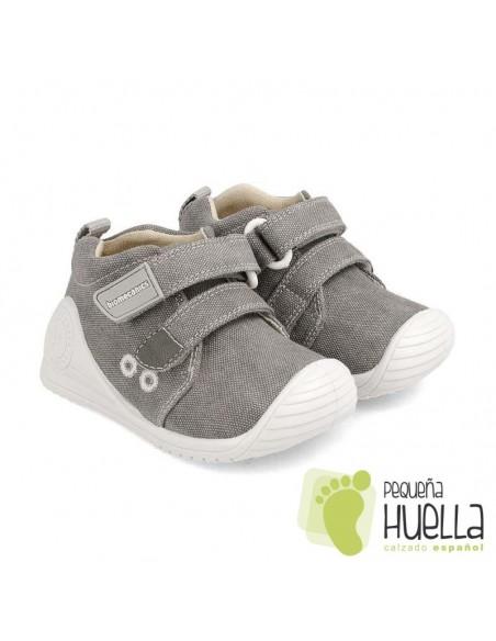 Zapatillas lona gris Biomecanics 202210