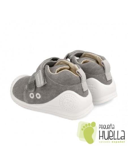 Zapatillas niño lona gris Biomecanics 202210