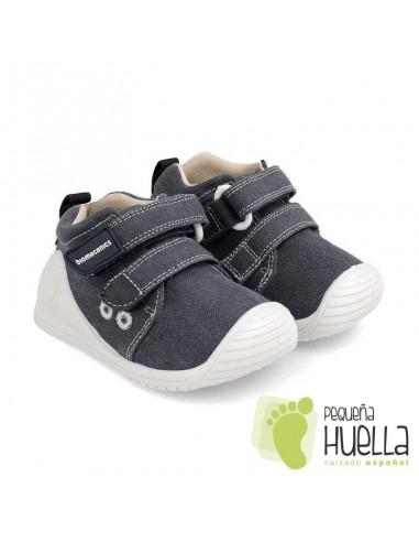 Zapatillas lona azul Biomecanics 202210