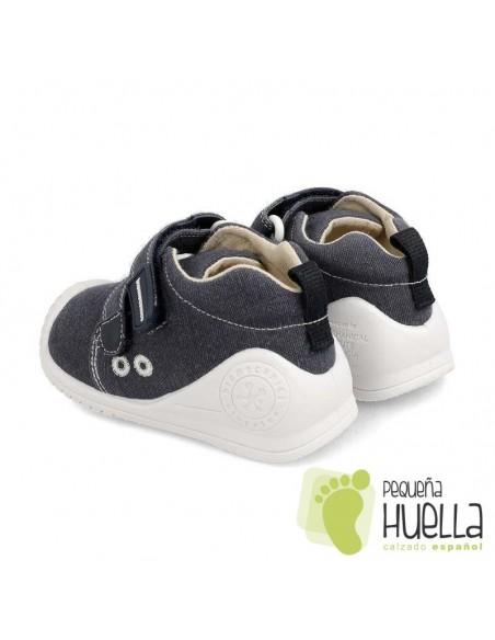 Zapatillas lona azul niño Biomecanics 202210