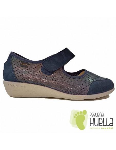 Zapatos azules Mujer cómodos 3175
