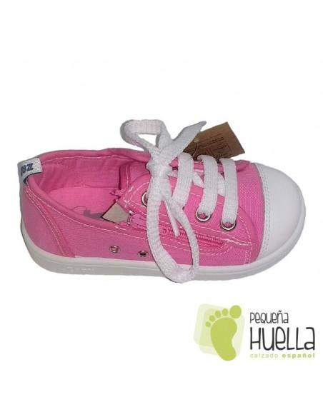 Zapatillas Lona rosas para Niñas Con puntera de goma Zapy