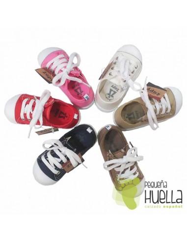 Zapatillas de Lona para Niños y Niñas con puntera de goma Zapy