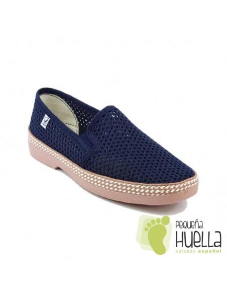 Zapatillas Rejilla azules señor javer 502