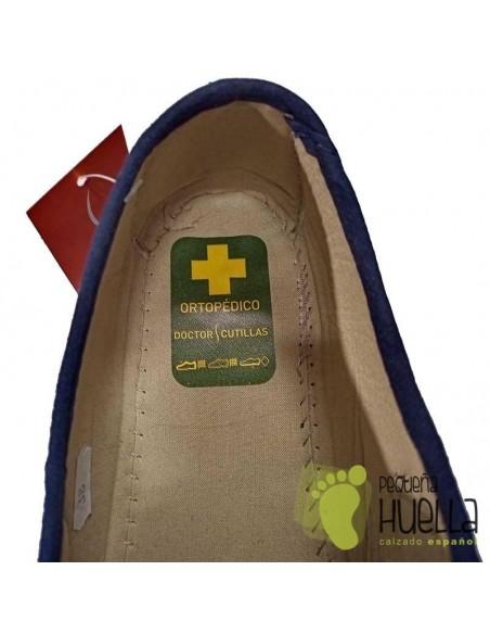 Zapatillas azules de verano para abuelas Doctor Cutillas 706