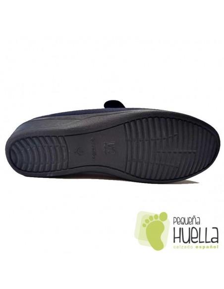 Zapatos de tela azul para señora Doctor Cutillas 706