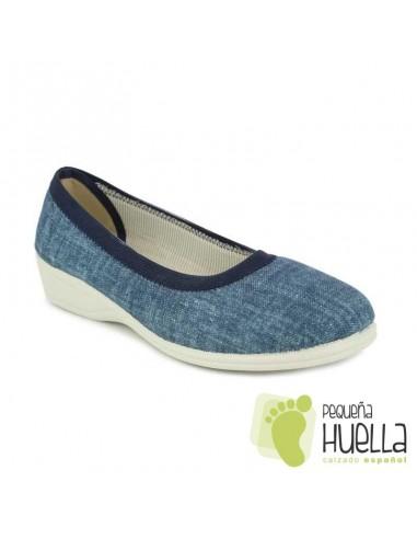 Zapatillas azules calle de verano para mujer Doctor Cutillas 710