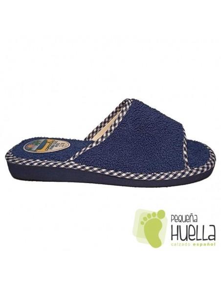 Zapatillas de rizo azules de mujer para el verano Berevëre v1235