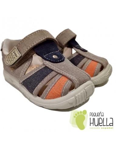Sandalias de tela para niños con velcro Zapy