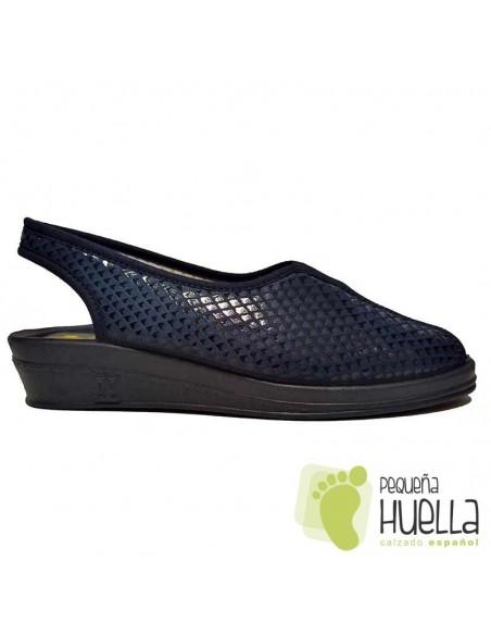 Sandalias azules señora Doctor Cutillas 9821