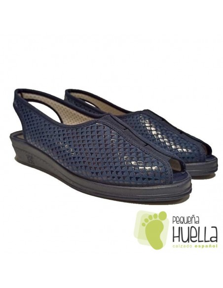 Sandalias azul marino señora Doctor Cutillas 9821