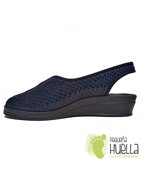 Sandalias azules con cuña señora Doctor Cutillas 9821
