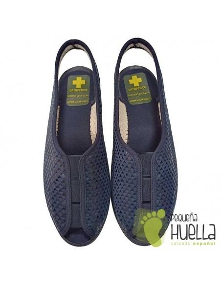 Sandalias azul marino señoras Doctor Cutillas 9821