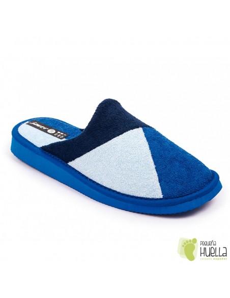 Zapatillas toalla azules verano mujer Javer