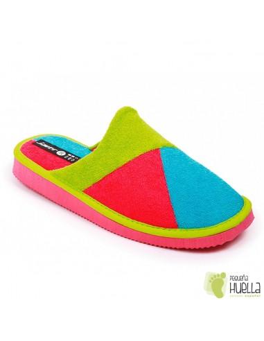 Zapatillas toalla rosa fucsia verano mujer Javer
