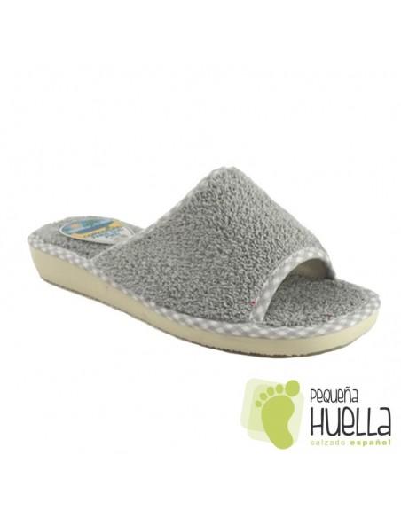 Zapatillas de toalla grises para chica de verano Berevëre v1235