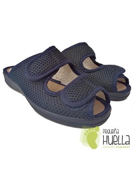 Zapatillas azules de mujer ajustables para el verano Ruiz y Gallego 930