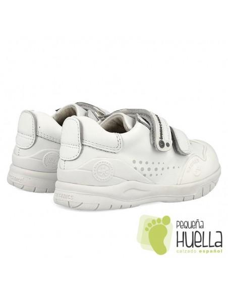 Zapatillas deportivas de piel blancas para niños y niñas Biomecanics 182195