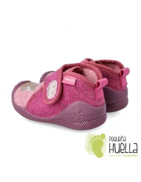 BIOMECANICS 201171 Zapatillas rosas de casa para bebé y niña