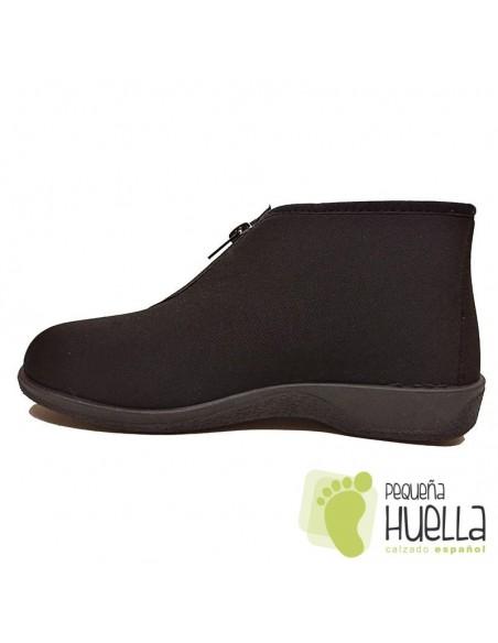 Botas negras de invierno para mujer con cremallera PERCLA 47225
