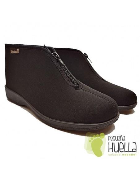 Botas negras para mujer con cremallera PERCLA 47225