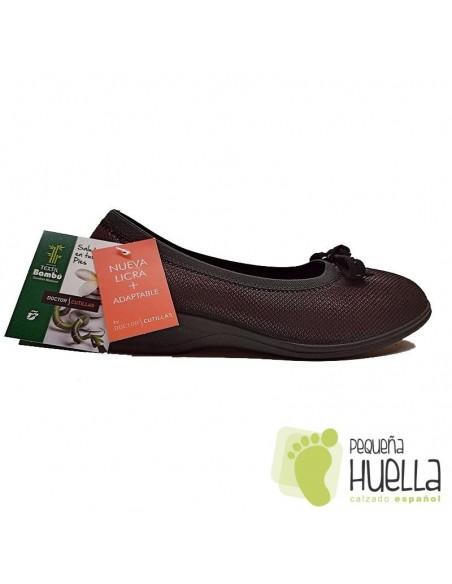 Zapatos mujer elásticos de licra extra blanda Doctor Cutillas 758A
