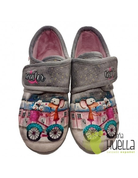 Zapatillas rosas  bicicleta para chicas con velcro Zapy