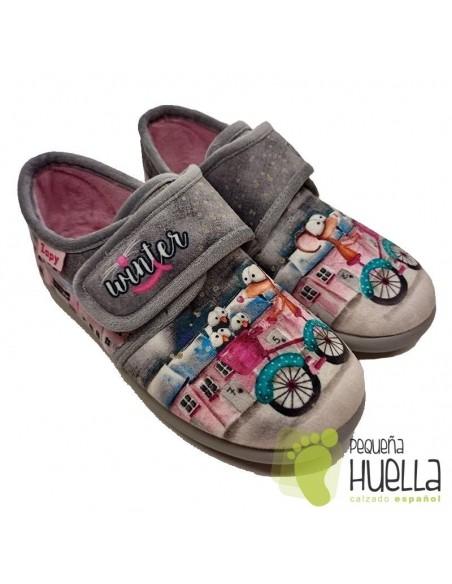 Zapatillas bicicleta para chicas con velcro Zapy