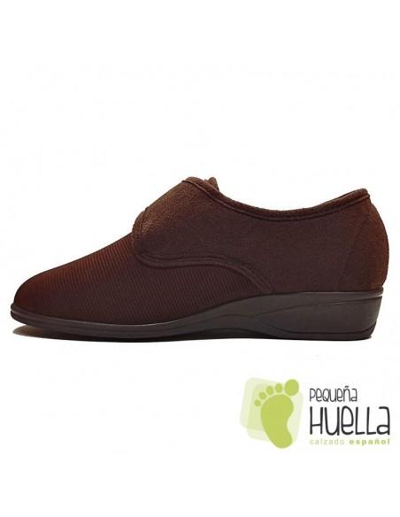 Zapatillas para señoras de Licra marrón Doctor Cutillas 761