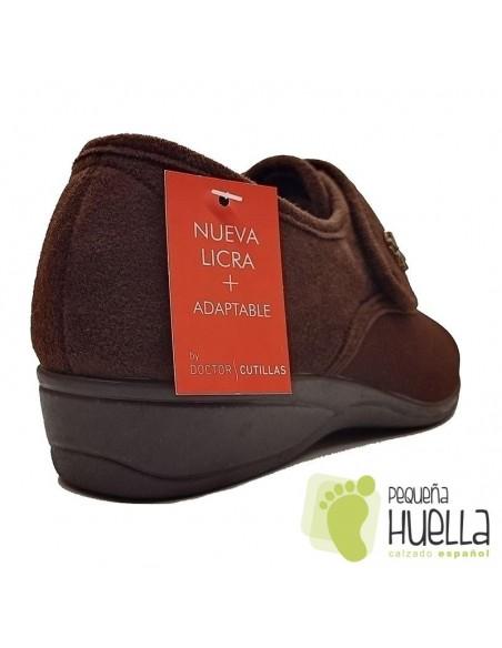 Zapatillas marrones para mujer de Licra Doctor Cutillas 761