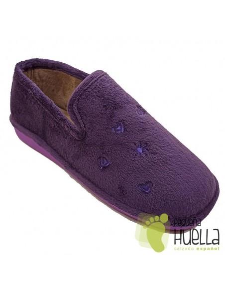 Zapatillas de chica para casa moradas Berevere IN0585