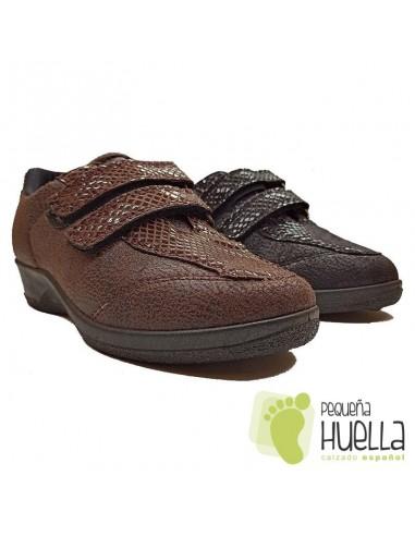 Zapatillas Anatómicas Señora con Velcro, La Percla 477