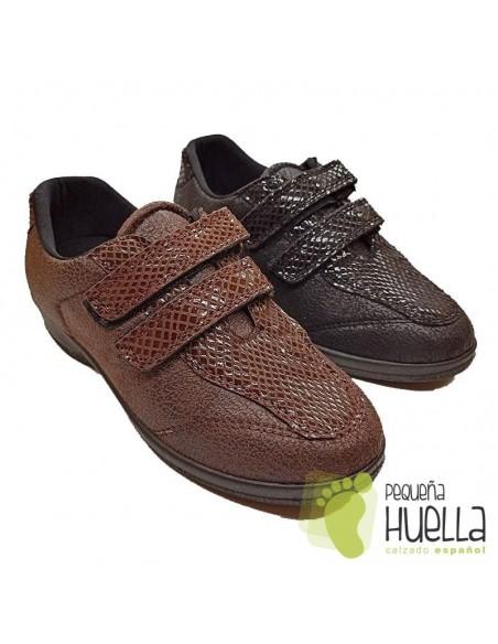 Zapatos Anatómicos para señora con Velcro, La Percla 477