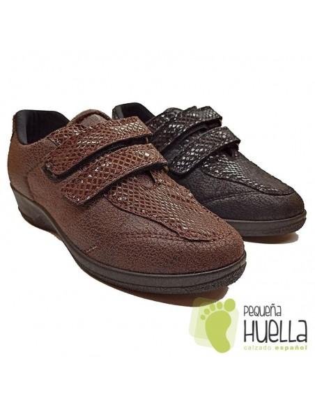 Zapatos Anatómicos para mujer con Velcro, La Percla 477