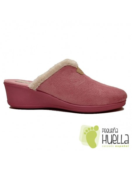 Zapatillas rosas con cuña para Mujer J. Ortega 1808