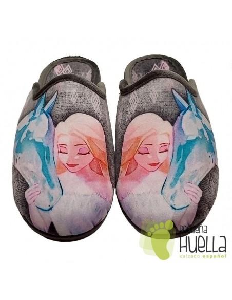 Frozen Zapatillas Casa para niña de Invierno Zapy